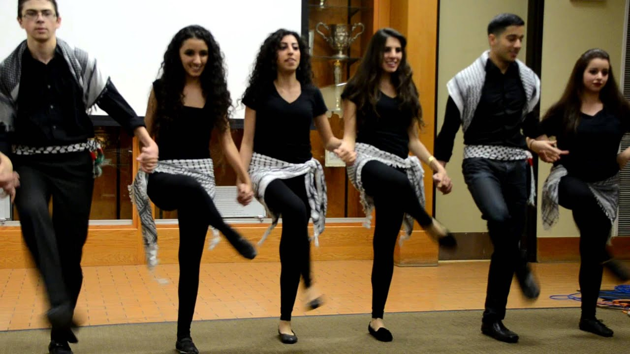 LA Dabke Troupe Performing for SJP (UCLA) - YouTube Filming