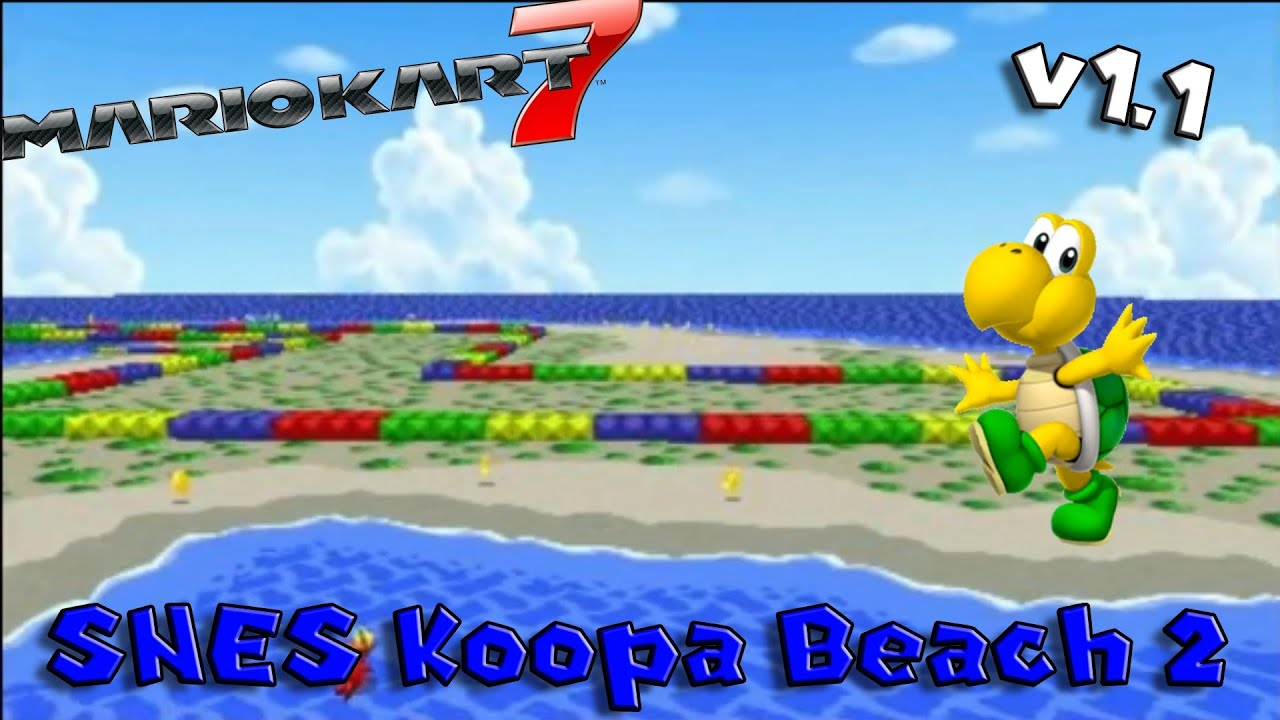 Snes Koopa Beach 2 Mario Kart 7 Maps