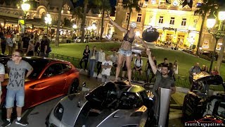 Girl Drives a 1360HP Koenigsegg ONE:1 in Monaco - Start Up & Loud Accelerations !