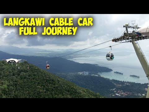 LANGKAWI CABLE CAR & SKY BRIDGE - Malaysia - Full Journey. Amazing Views.