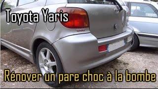 Rénovation (amateur) d'un pare choc arrière de Toyota Yaris TS 1