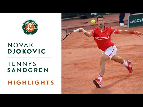 Novak Djokovic vs Tennys Sandgren - Round 1 Highlights   Roland-Garros 2021