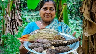 Village Cooking | S1E6 - Purple Yam with American Carp Fish Recipe by Village Food Life