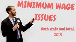 California state and local minimum wage issues in 2018