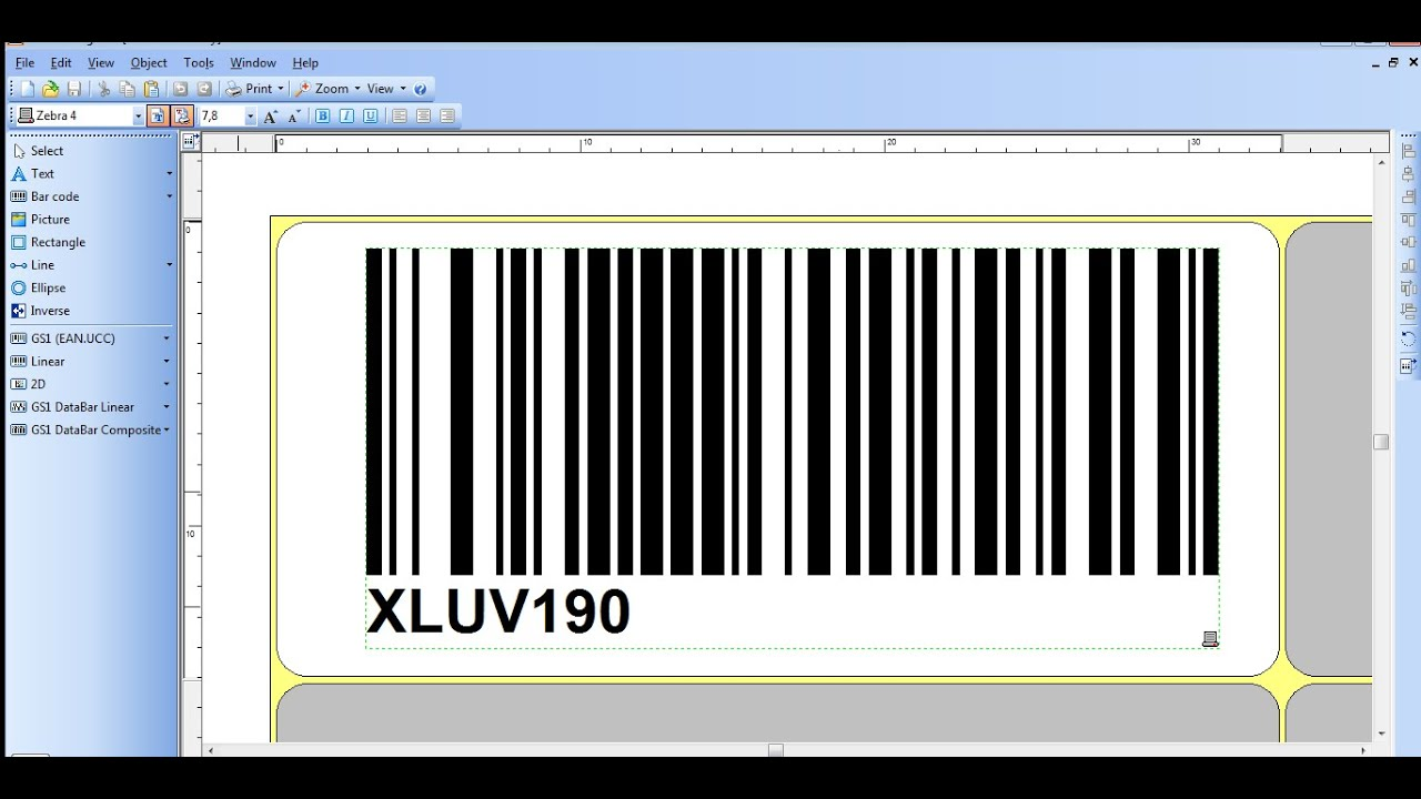 It is a photo of Punchy Zebra Gk420d Printing Extra Blank Labels