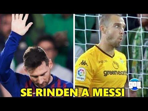 Se rinden a  Messi, el mas grande, Messi vs Betis LO QUE NO SE VIO