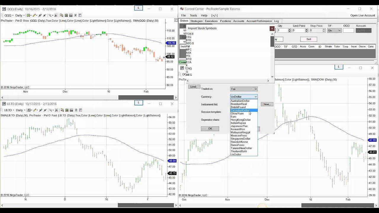 Ninja trader how to add canadian stocks using yahoo eod data feed