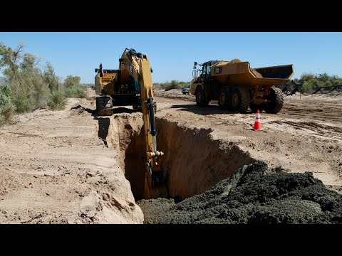 Drone Video Footage Shows Progress Of Arizona's Border Barrier (U.S. Army Corps Of Engineers)