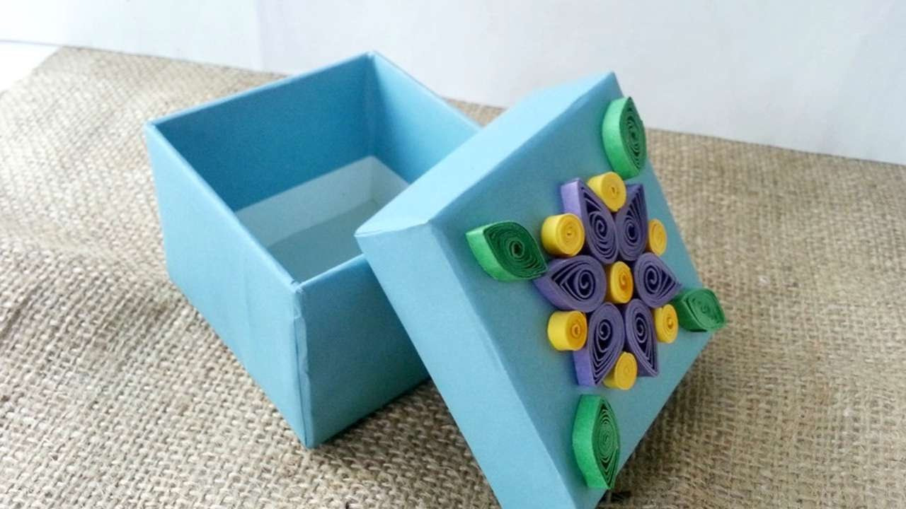 How To Create A Quilled Decorative Gift Box Diy Crafts Tutorial Guidecentral