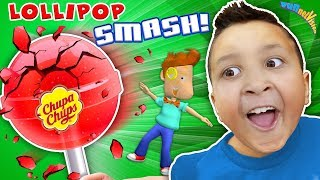 GIANT CHUPA CHUPS LOLLIPOP! SLOW MO BURST! FUNnel Family