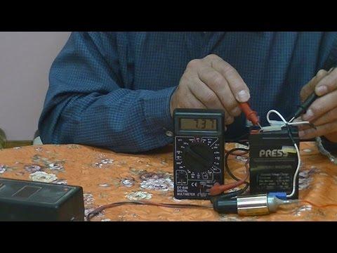 Como cargar 6 voltios con cargador de 12 voltios--Como carga de 6 volts carregador 12 volts