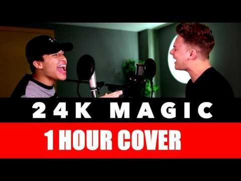 [1 hour Edition] Bruno Mars - 24K Magic (SING OFF vs. Alex Aiono)