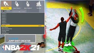 HOW TO GET THE CUSTOM JUMPSHOT CREATOR IN NBA 2K21!! BEST CUSTOM JUMPSHOTS IN NBA 2K21!