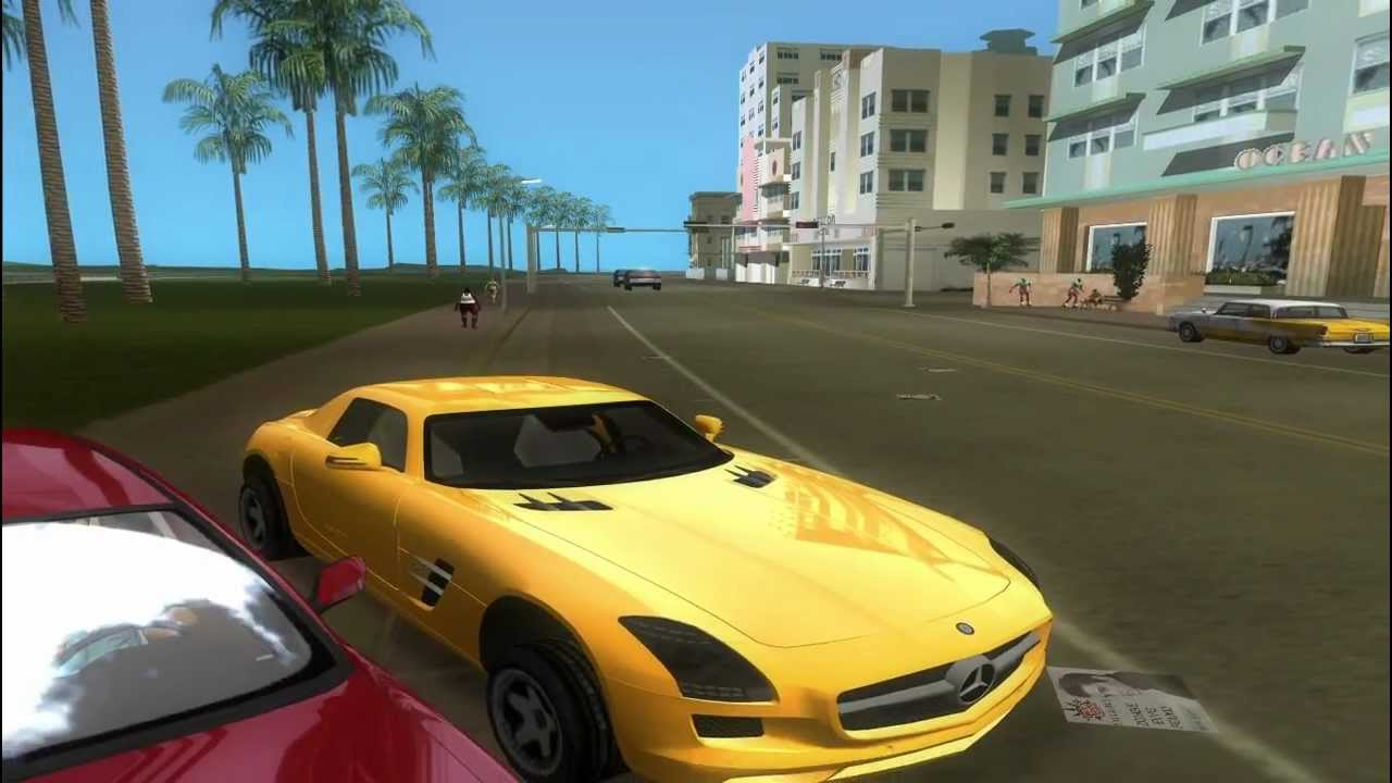 Toyota Avensis 2003 V2 0 Mercedes Sls Gta Vice City Youtube
