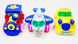 Learn Colors for Children with Cars, Train, Airplane - Cars Collection Vehicles Toys Videos for Kids