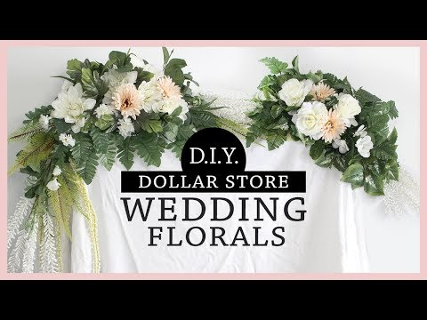 *AMAZING* DOLLAR STORE DIY Wedding Flower Arrangements