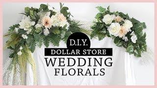 *AMAZING* DOLLAR STORE DIY Wedding Flower Arrangements
