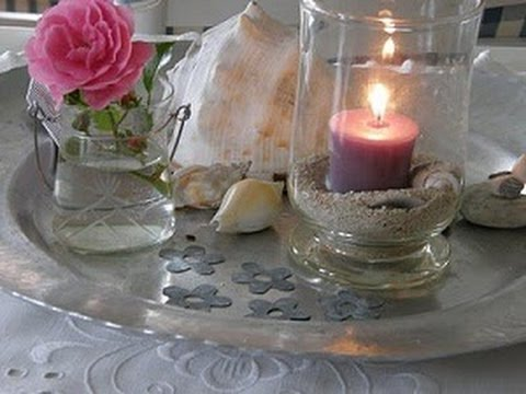 como hacer un centro de mesa con vela y vaso de vidrio hogar tv por juan gonzalo angel