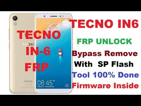 Tecno IN6 FRP Bypass Remove With SP Flash Tool 100% Done Firmware and tool  Link Add,