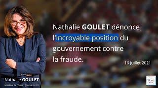 Nathalie Goulet dénonce l'incroyable position du gouvernement contre la fraude.