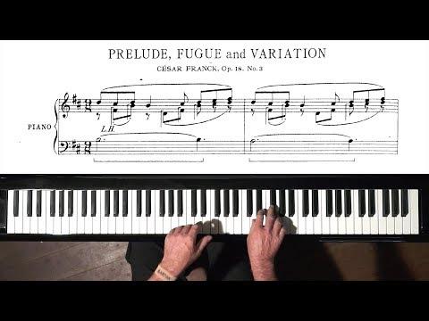 César Franck PIANO + FREE sheet music -  Paul Barton, FEURICH piano