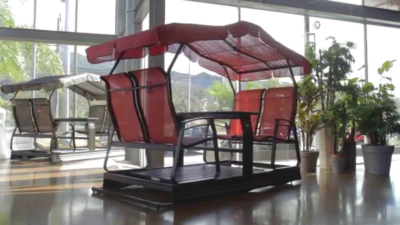 columpio balancoire veranda jardin de bali home center youtube. Black Bedroom Furniture Sets. Home Design Ideas