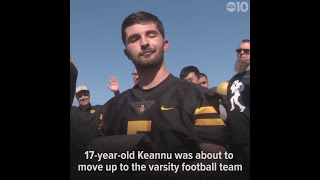 Make-A-Wish helps teen play with his football team again after stroke