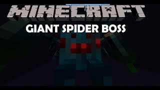 Minecraft Mob Battles|GIANT SPIDER BOSS vs MOBZILLA,HAMMERHEAD,and more!