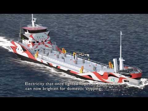 Pure electric ship