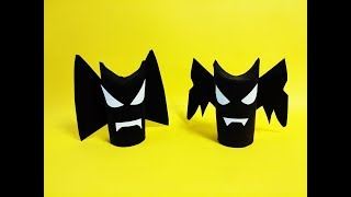 휴지심 할로윈소품 박쥐괴물 장식 종이접기 파티모형 재활용 만들기 Origami Halloween Party Props Bat Monster-paper decoration diy