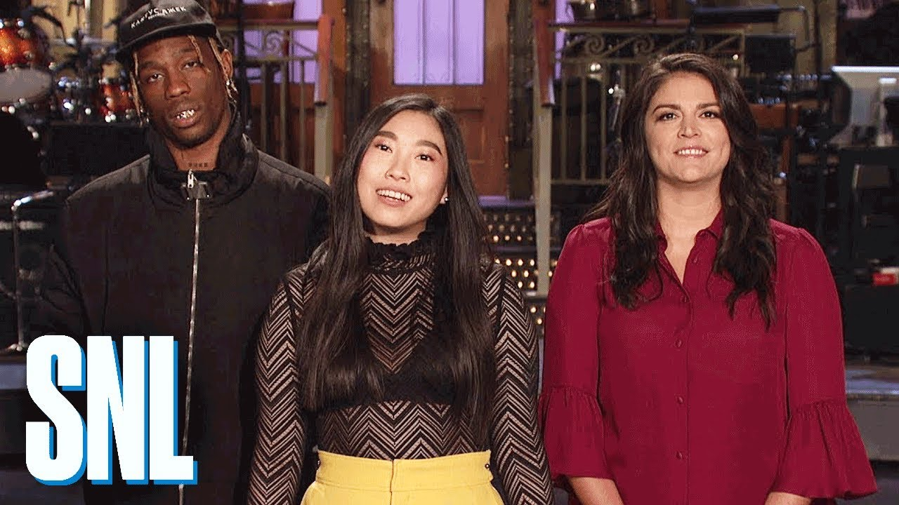 6923404a80a1 Travis Scott Adlibs over Cecily Strong's Freestyle in 'SNL' Promo