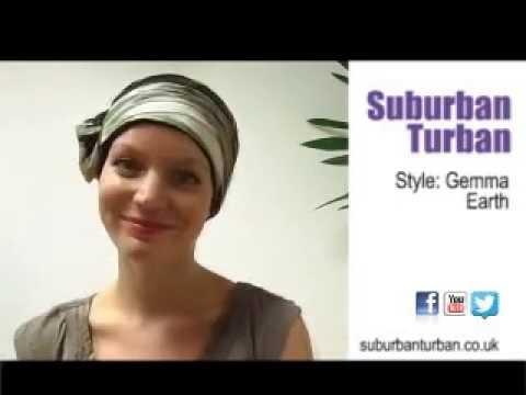 Cancer patient headwear turban -  Gemma  - Earth - YouTube ba26de7b9bae