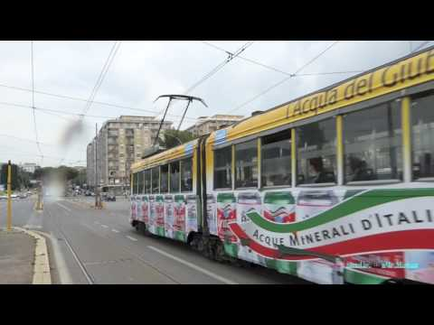 Trams in Rome, Italy 2016