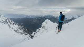 Ski Touring High Above Chamonix