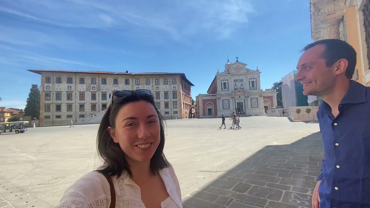 vlog in Italian 164: altri giri a Pisa, la Scuola Normale (set de L'Amica Geniale), la cecina [sub]