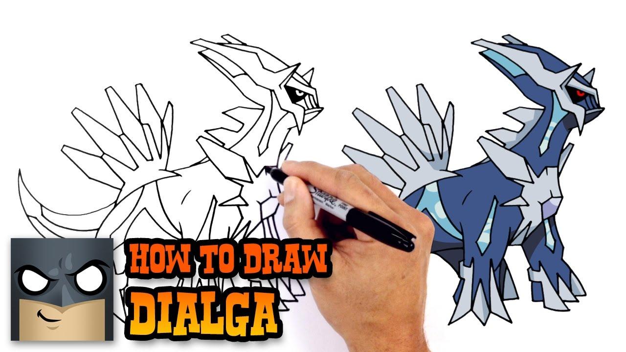 How To Draw Dialga Pokemon Youtube