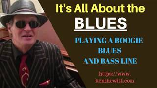 HOW TO PLAY A WALKING BASS LINE- for an F Blues. w/ short tutorial.