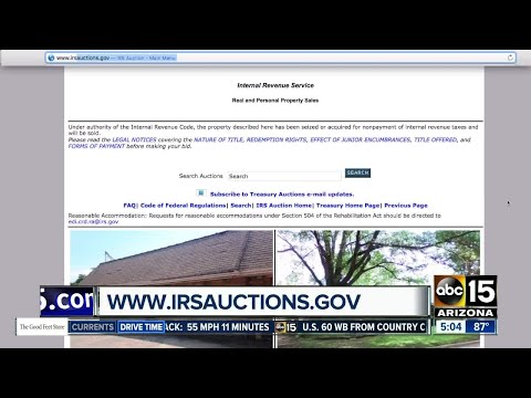 Get great deals at IRS auctions