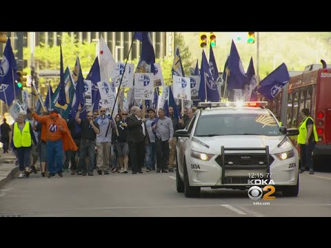 Locked Out Workers Protest Outside Alcoa Shareholders' Meeting