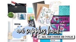 HUGE UNIVERSITY/SCHOOL SUPPLIES HAUL!!! (MUJI, Erin Condren, Popular) | studycollab: alicia