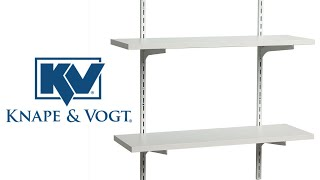 Knape /& Vogt KV Steel Shelf Standard 60 Almond