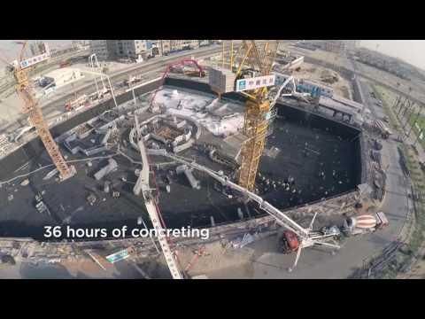 Viceroy JV concrete pouring timelapse
