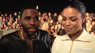 "Jordin Sparks & Jason Derulo Get Coy About Engagement Rumor, Talk ""Marry Me"" - MTV VMAs Red Carpet 2"