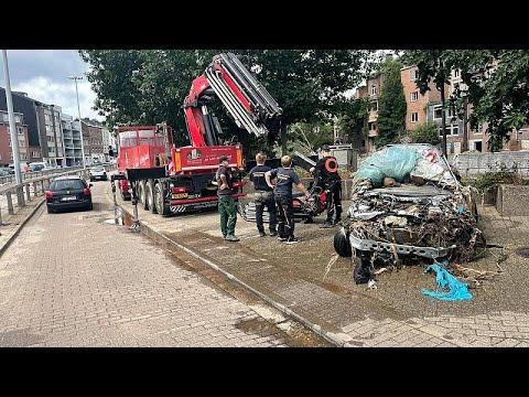 Las consecuencias de las inundaciones en Bélgica