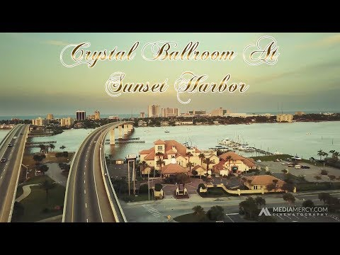 Crystal Ballroom At Sunset Harbor Drone Video