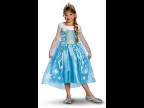 Disney Frozen Elsa Deluxe Girl Halloween Costume by Disguise Costumes  sc 1 st  YouTube & Disney Frozen Elsa Deluxe Girl Halloween Costume by Disguise ...