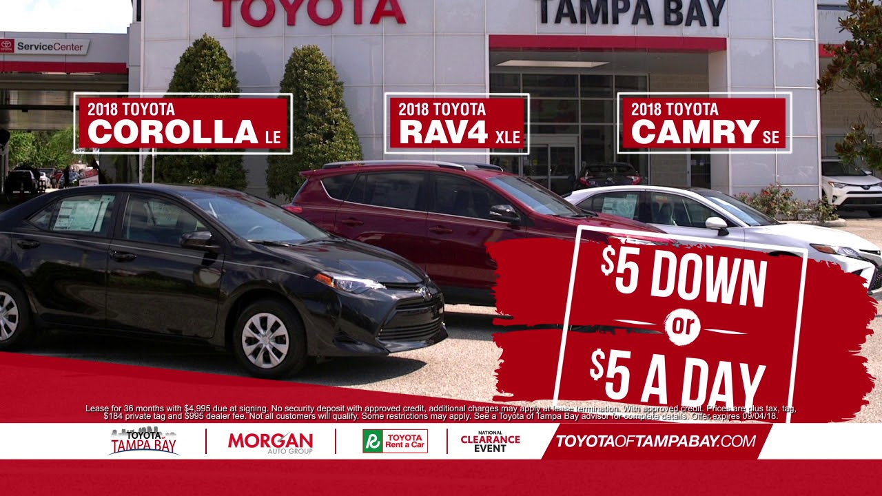 Labor Day Sales Event. Toyota Of Tampa Bay