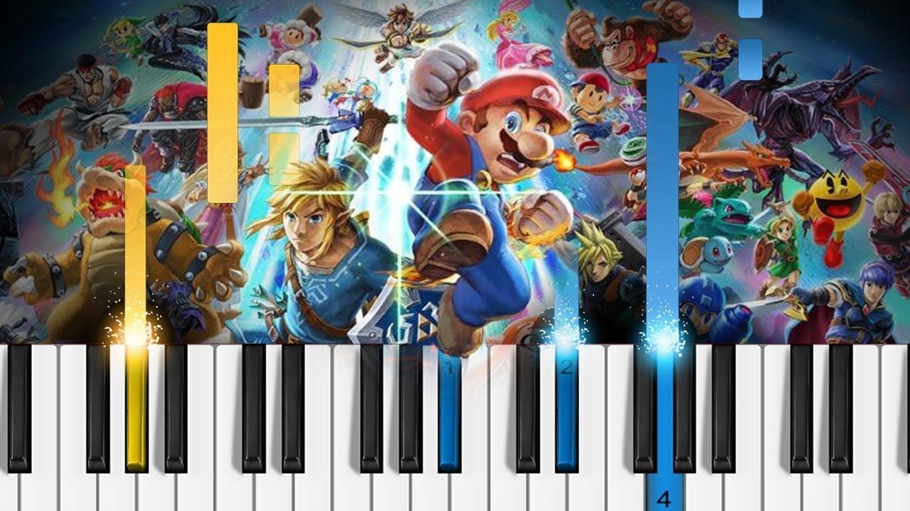 Super Smash Bros  Ultimate - Main Theme - EASY Piano Tutorial