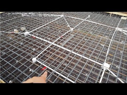 Electrical conduits in rcc roof slab