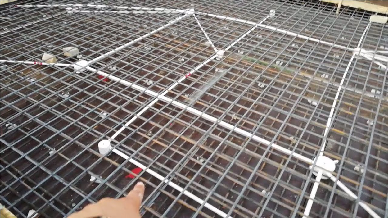 hight resolution of electrical conduits in rcc roof slab